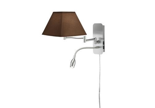 Trio HOTEL V bruin bedlamp