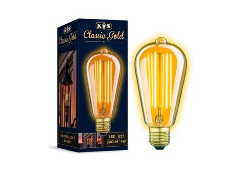 KS verlichting LED Lamp Classic Gold Rustic 4W