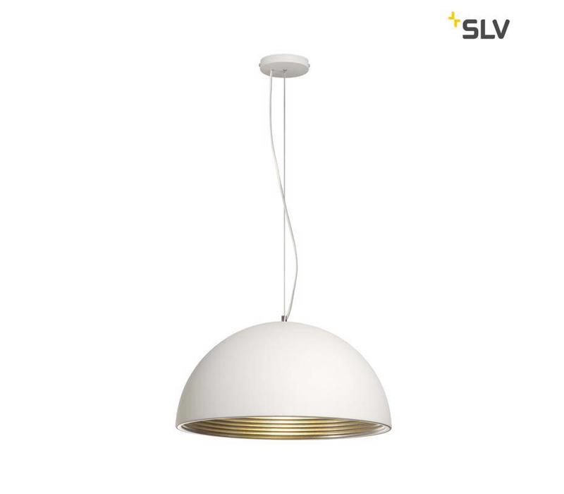 Forchini M PD-1 wit / zilver hanglamp