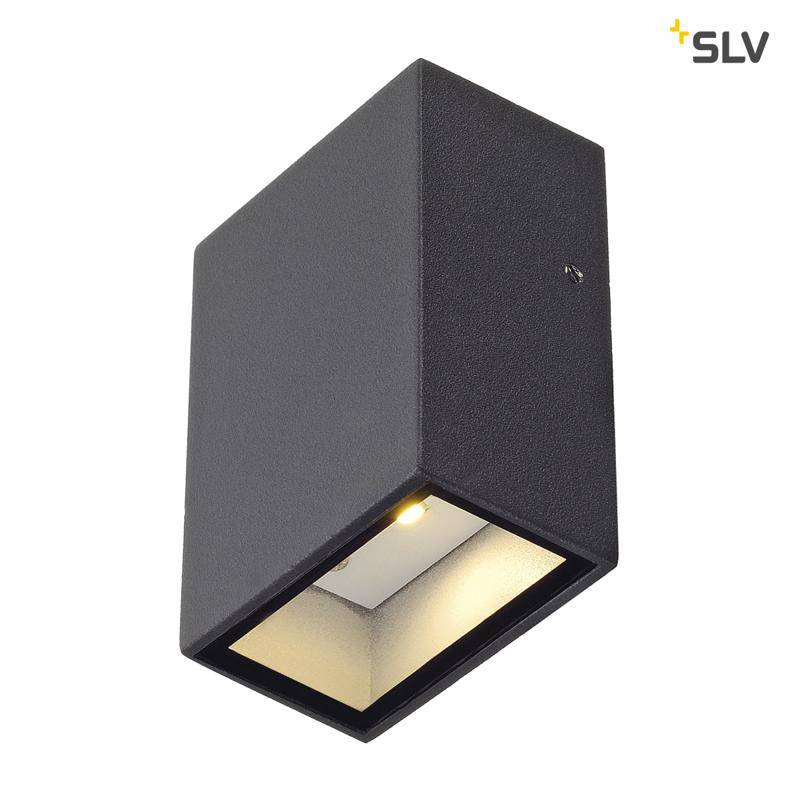 SLV Quad 1 ANTRACIET wandlamp