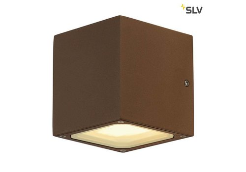 SLV Sitra Cube ROESTKLEUR wandlamp