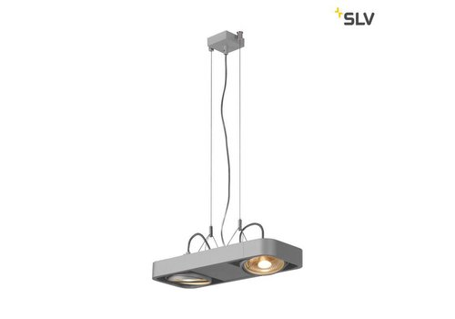 SLV Aixlight R2 DUO led QPAR111 Grijs hanglamp