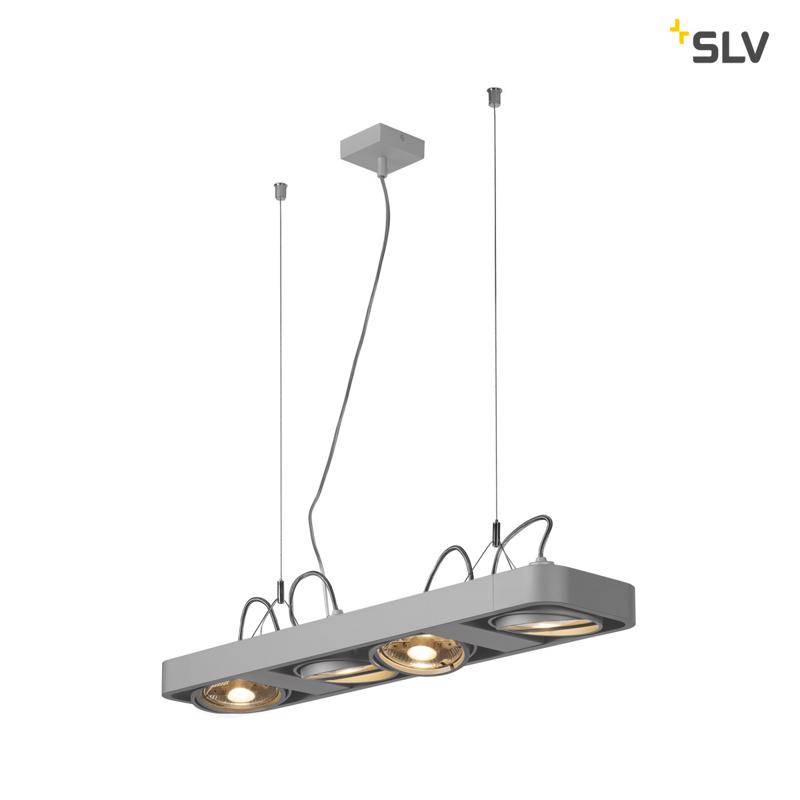 SLV Aixlight R2 LONG led QPAR111 Grijs hanglamp