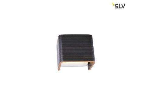SLV MANA 1 hout / grijs lampenkap