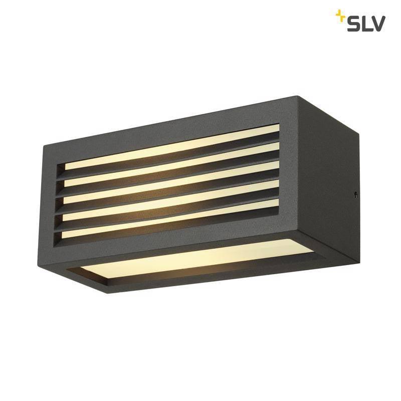 SLV BOX-L E27 ANTRACIET wandlamp