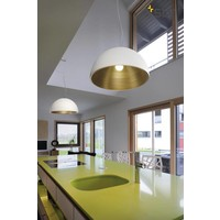Forchini M PD-1 wit / goud hanglamp