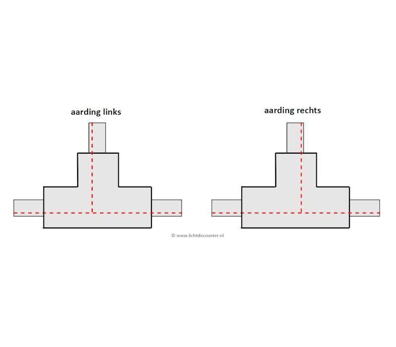 T-verbinder GRIJS 1-fase railverlichting