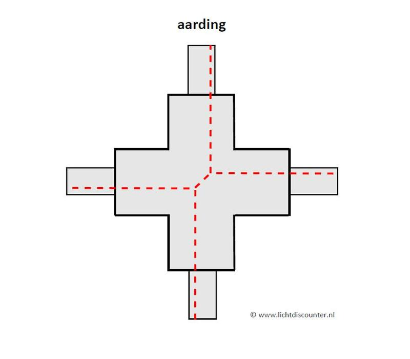 X-verbinder 1-fase ZWART