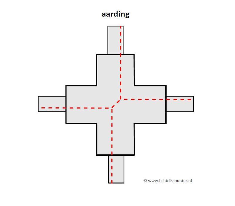 X-verbinder 1-fase GRIJS