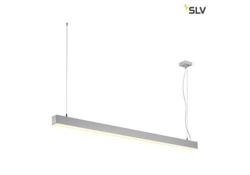 SLV Q-LINE Single LED Grijs hanglamp