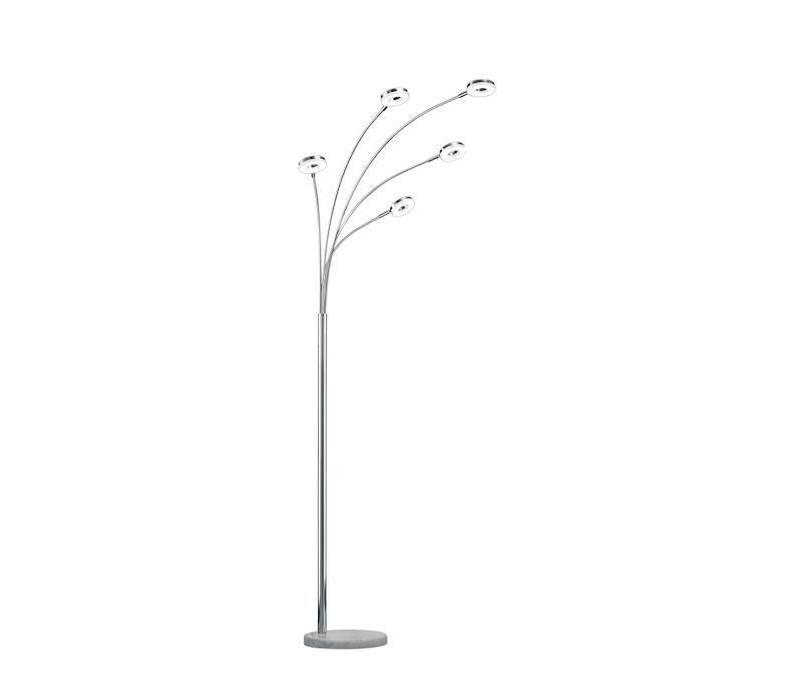 RENNES LED 5x 4W chroom vloerlamp