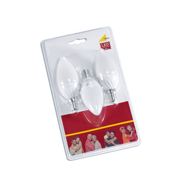 Trio E14 6W 3000K Candle ledlamp / 3 st