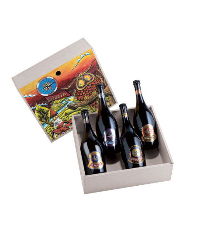 Gjulia | Giftbox art collection 4 flessen 75cl