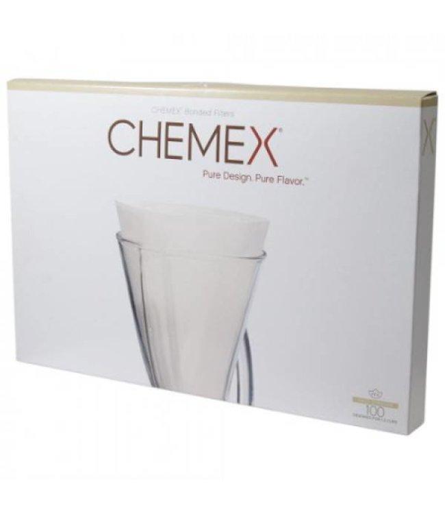 Chemex Filters 3-Kops - Ongevouwen - 100 Stuks (FP2)