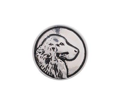 Clicks en Chunks | Click hond zilverkleurig voor clicks sieraden