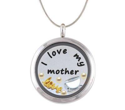 Complete Memory locket Moeder Memory Locket Ketting