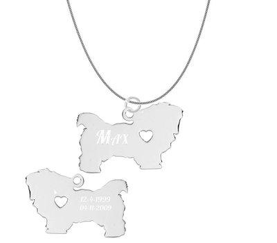 Sieraden met dieren Graveerbare honden ketting Maltezer