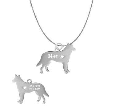 Sieraden met dieren Ketting met hanger Mechelse Herder