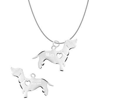 Sieraden met dieren Ketting met hanger Basset Hound