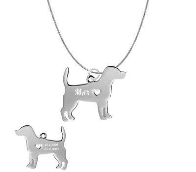 Sieraden met dieren Ketting met hanger Beagle