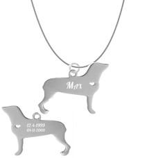 Sieraden met dieren Ketting met hanger Rottweiler