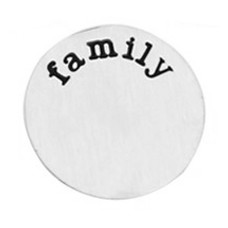 Floating locket  discs Memory locket disk family zilverkleurig XL