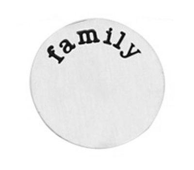 Floating locket  discs Memory locket disk family zilverkleurig XL