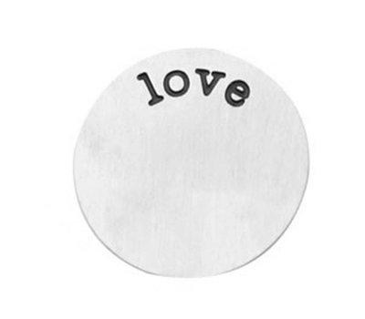 Floating locket  discs Memory locket disk love zilverkleurig XL