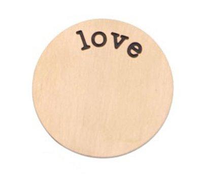 Floating locket  discs Memory locket disk love rose goudkleurig XL