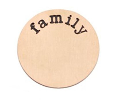 Floating locket  discs Memory locket disk family rose goudkleurig XL
