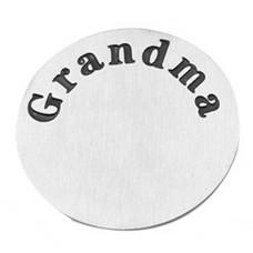 Floating locket  discs Memory locket disk Grandma zilverkleurig XL