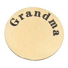 Floating locket  discs Memory locket disk Grandma goudkleurig XL