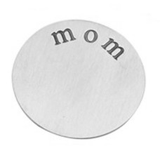 Floating locket  discs Memory locket disk mom zilverkleurig XL