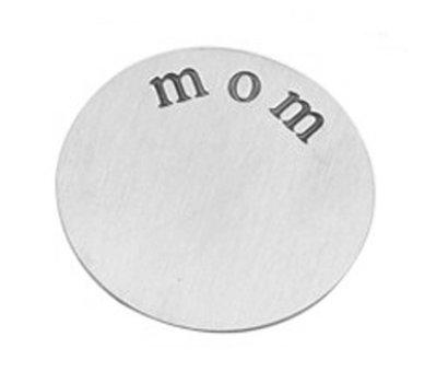 Floating locket  discs Memory locket disk mom zilverkleurig XL