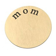 Floating locket  discs Memory locket disk mom goudkleurig XL