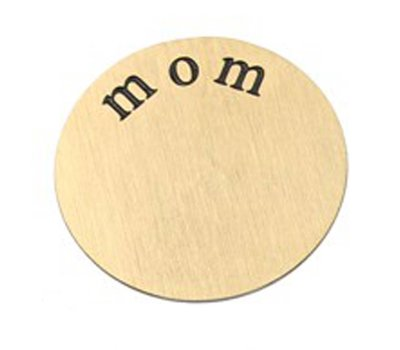 Floating locket  discs Memory locket disk mom goudkleurig XL