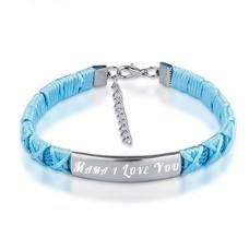 Armband met Naam Armband graveren dames blauw