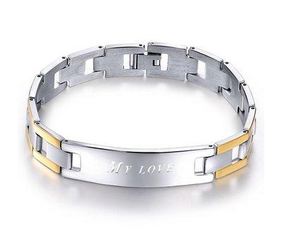 Armband met Naam Stalen armband graveren Bora