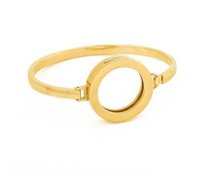 Armband voor munten Armband goudkleurig smal van Roestvrij Staal