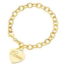 Armband met Naam Bedelarmband met Naambedel goudkleurig