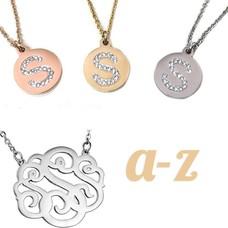 Letter Kettingen, Verkrijgbaar van A t/m Z in zilverkleurig (rosé) Goudkleurig