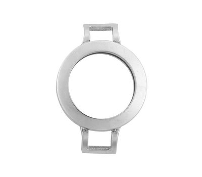 Armband voor munten Munthouder smal voor losse armband zilverkleurig van roestvrij staal