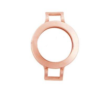 Armband voor munten Munthouder smal voor losse armband rose goudkleurig van roestvrij staal