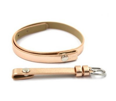 Armband voor munten Losse armband voor munthouder smal leer dubbel goudkleurig