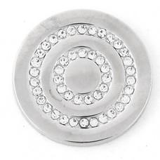 Munt voor Muntketting Round in round zilverkleurig