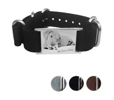 Armband met foto graveren Armband met foto Graveren Soul Smal Nylon