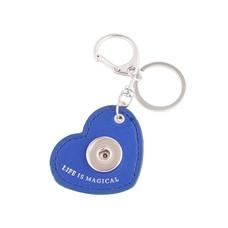 Clicks Sieraden Clicks sleutelhanger hart blauw