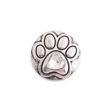 Clicks en Chunks | Click hondenpootje crystal zilverkleurig