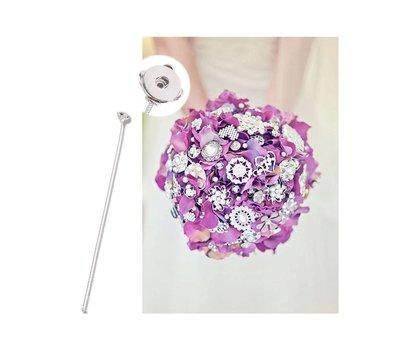 Clicks Sieraden Clicks bloemen boeket speld zilverkleurig