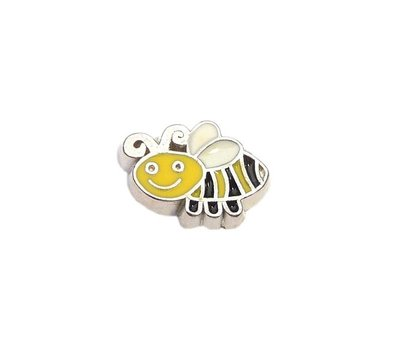 Floating Charms Floating charm bij zilverkleurig voor de memory locket